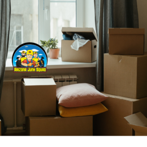 Room filled with boxed items